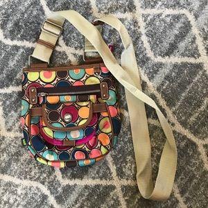 Lily Bloom polka dot crossbody bag